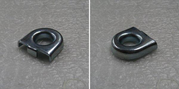 画像1: GONG ダボ用落下防止ワイヤ取付金具 (1)